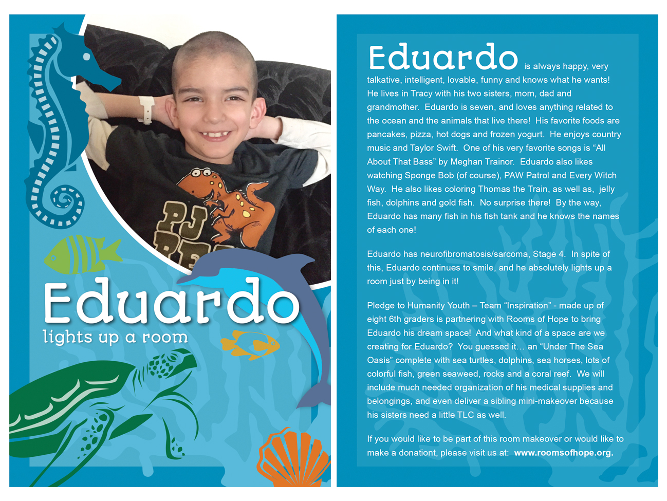 Eduardo's Rooms of Hope Postcard